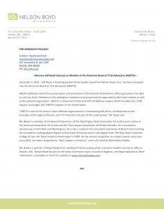 Nelson Boyd Press Release